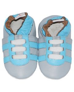 Grey Blue Trainers