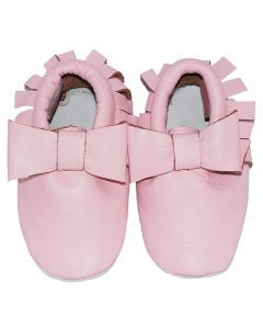 Moccasins babyshoes Bow Pink