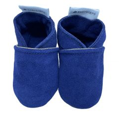 babysteps babyhoes plain blue suede
