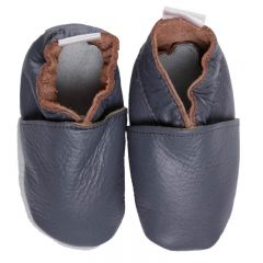 Babyshoes Plain Anthracite